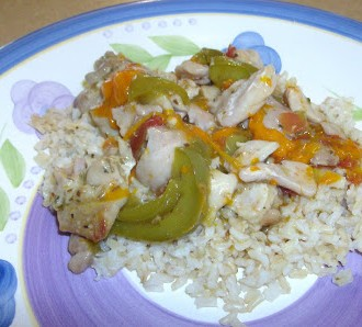 Slow Cooker Rosemary Chicken and Peppers