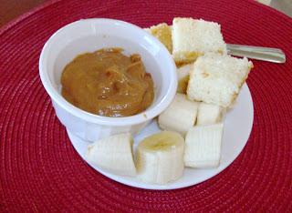 Slow Cooker PB and Caramel Fondue