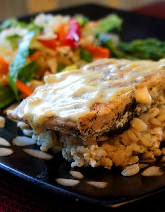 Lemon-Dijon Salmon with Dill Barley