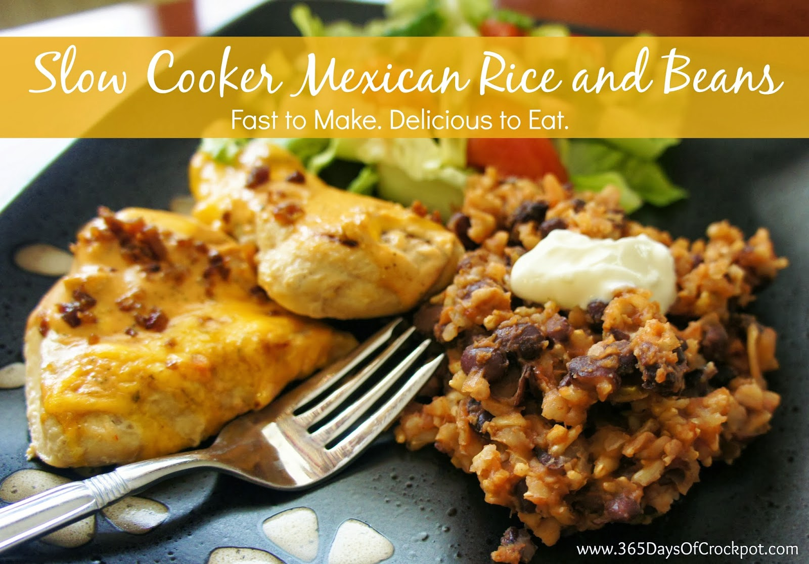Slow Cooker Mexican Black Beans And Rice 365 Days Of Slow Cooking And Pressure Cooking