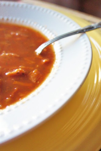 Recipe for Healthy Slow Cooker (crock-pot) Tomato, Ham and Bean Soup
