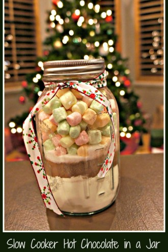 Christmas (slow cooker) Hot Chocolate Gift Jars
