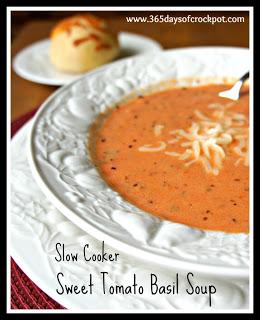 Slow Cooker Sweet Tomato Basil Soup on Fresh Living