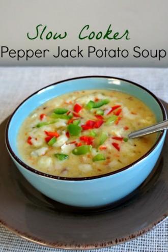 Recipe for Slow Cooker (crock pot) Pepper Jack Potato Soup