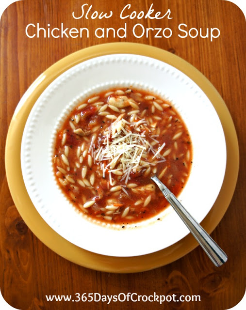 Recipe for Slow Cooker Chicken and Orzo Soup - 365 Days of Slow ...