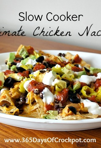 Recipe for Slow Cooker Ultimate Chicken Nachos