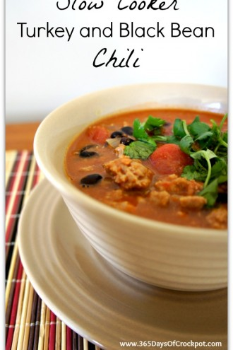 Recipe for Slow Cooker Turkey and Black Bean Chili