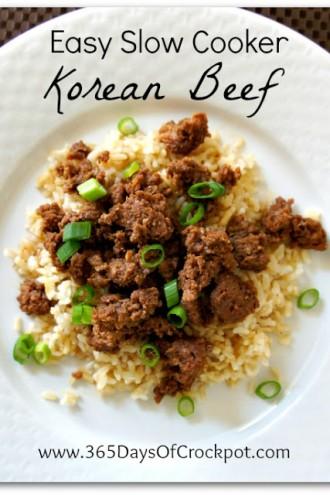 Recipe for Easy Slow Cooker Korean Beef