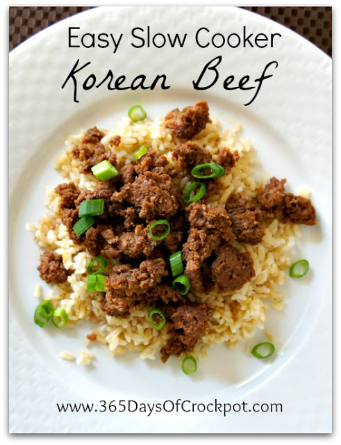 Recipe for Easy Slow Cooker Korean Beef #crockpot #easydinner