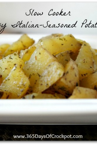 Recipe for Easy Slow Cooker Italian-Seasoned Potatoes
