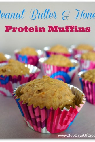 Peanut Butter and Honey Protein Muffins