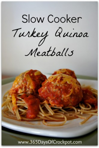 Recipe for Slow Cooker Turkey Quinoa Meatballs