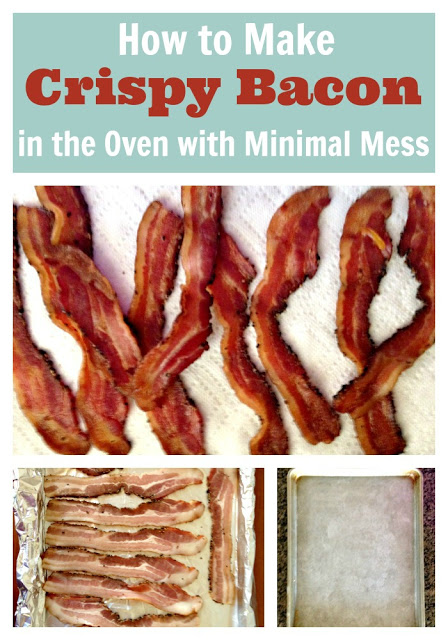 How to make bacon in the oven--I love making bacon in the oven. It is so much easier and less mess.