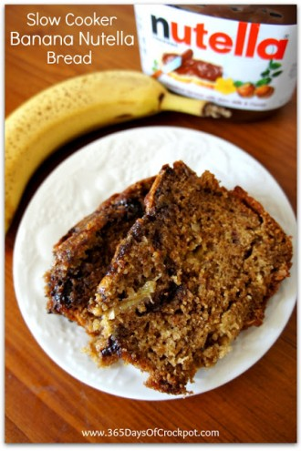 Recipe for Slow Cooker Banana Nutella Bread