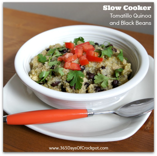 Recipe for Slow Cooker Tomatillo Quinoa and Black Beans ...