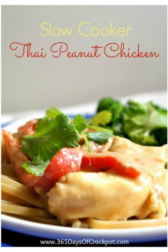 Recipe for Slow Cooker Thai Peanut Chicken