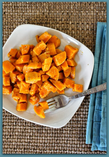 Easy crockpot recipe for your Thanksgiving sweet potatoes.  Maple Dijon Glazed!  #thanksgiving #sweetpotatoes
