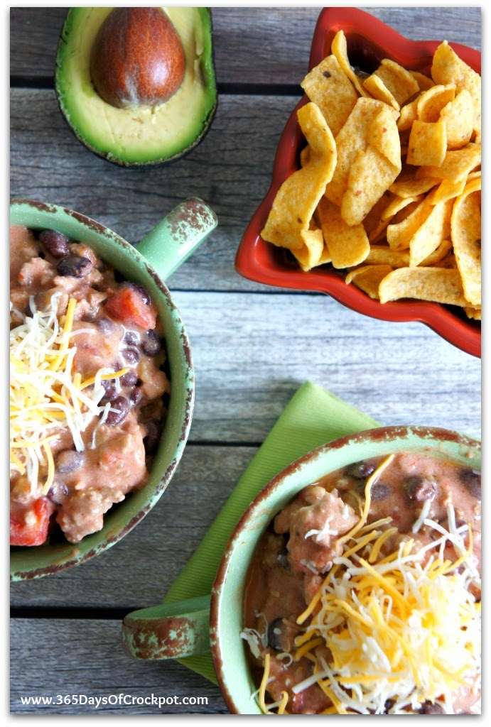 Recipe For Slow Cooker Crockpot Creamy Turkey Taco Soup With Avocado 365 Days Of Slow
