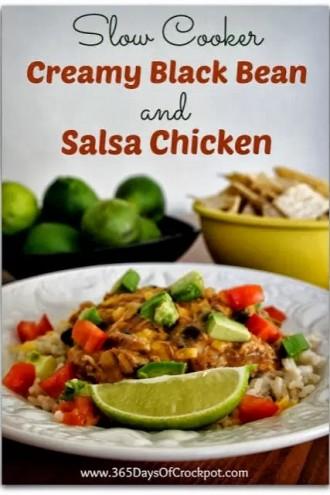 Recipe for Slow Cooker Creamy Black Bean Salsa Chicken
