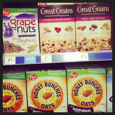 Grape Nuts and other Post cereals on sale this week at Walgreens for only $1.99 a box!