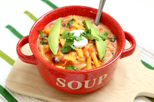 Slow Cooker Creamy Tortilla Soup