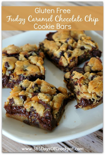 Recipe For Gluten Free Fudgy Caramel Cookie Bars 365 Days Of Slow Cooking And Pressure Cooking