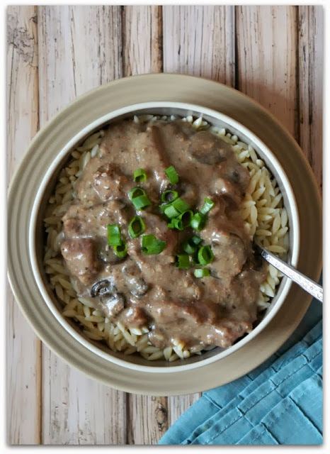 Recipe for Slow Cooker Beef Stroganoff (Gluten Free and No Cream of Soups involved) #crockpot #glutenfree