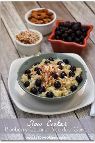 Recipe for Slow Cooker Blueberry-Coconut Breakfast Quinoa