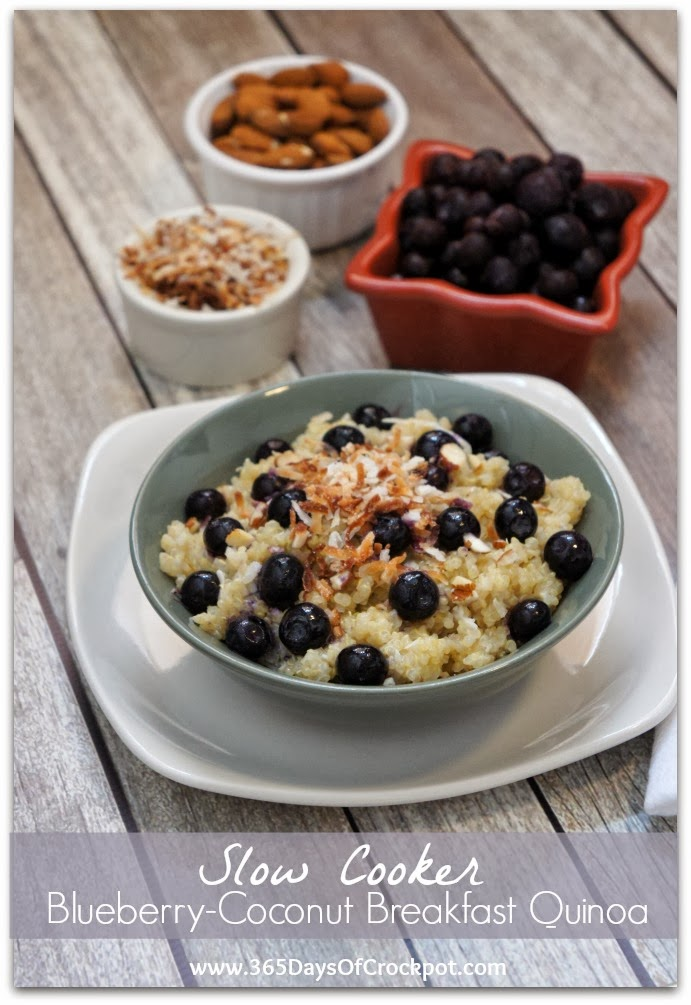 Recipe for Slow Cooker Blueberry-Coconut Breakfast Quinoa (and a $75 ...
