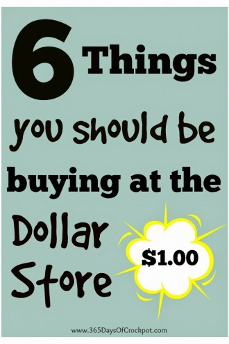 6 Things You Should Be Buying at the Dollar Store