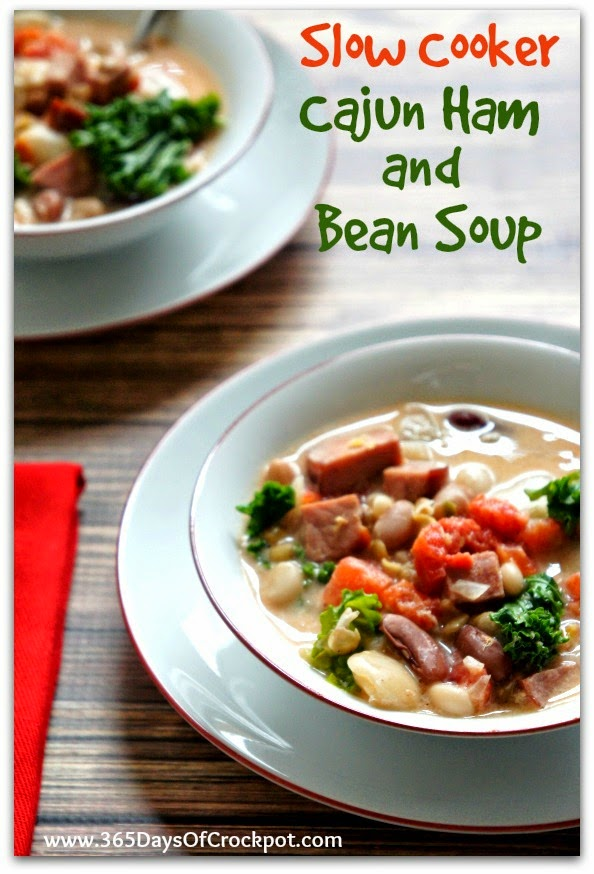 Easy Recipe for Slow Cooker Cajun Ham and 15 Bean Soup - 365 Days of ...