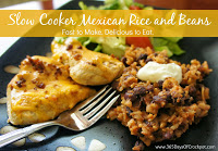 Recipe for Crockpot Mexican Rice and Beans.  Fast to make, delicious to eat!