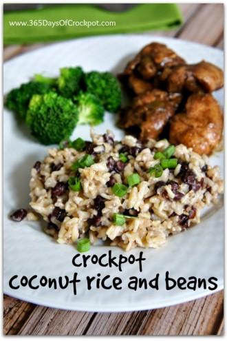 Crockpot Coconut Rice and Beans Recipe (and some thoughts on feelings)