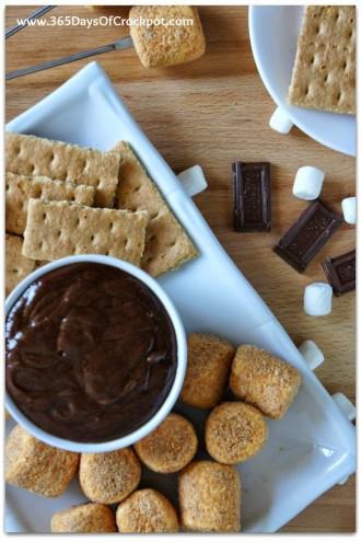 Recipe for CrockPot S'mores Fondue