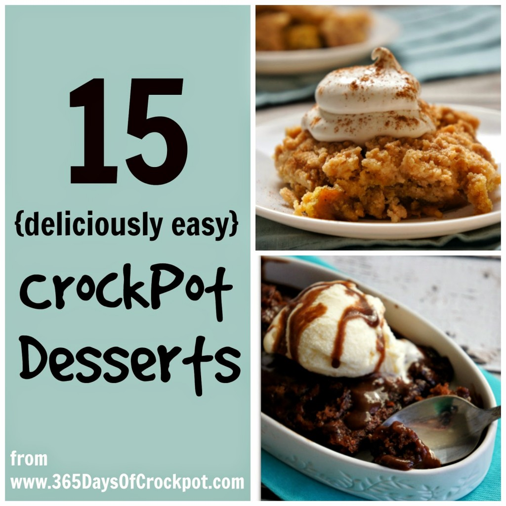 15 Deliciously Easy Slow Cooker Dessert Recipes
