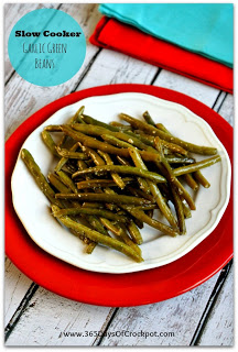 Recipe for Slow Cooker Fresh Garlic Green Beans #slowcooker #healthyslowcooker #crockpot #vegan #paleo
