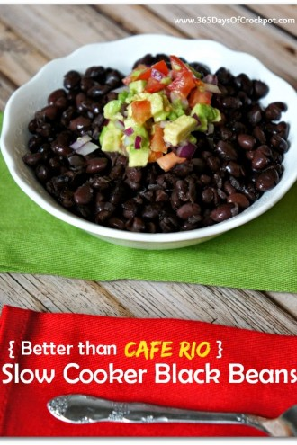 (Better than Cafe Rio) Slow Cooker Black Beans