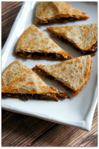 Recipe for Slow Cooker Sloppy Joe Beef Quesadillas with Cream Cheese