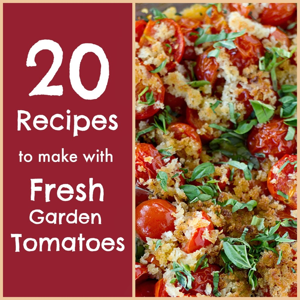 20 recipes to make with fresh tomatoes 365 days of slow