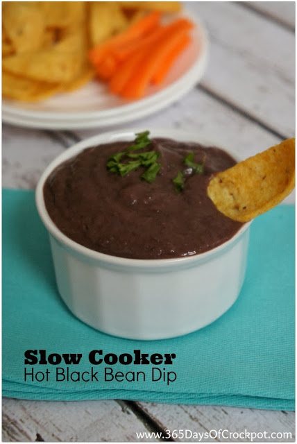 Easy CrockPot recipe for warm black bean dip...you can use this in place of refried beans #crockpot #slowcooker #beans #meatless #vegetarian