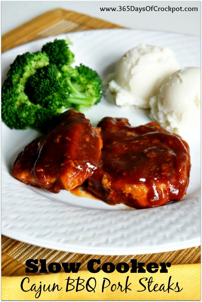 Recipe For Slow Cooker Cajun Bbq Pork Steaks 365 Days Of Slow Cooking And Pressure Cooking