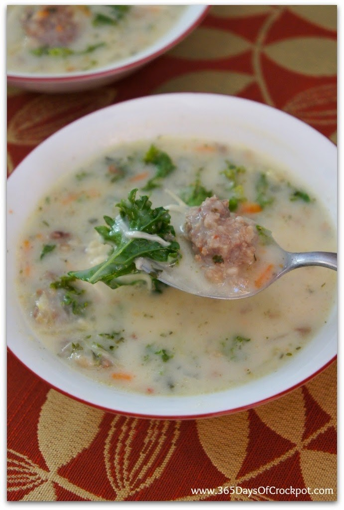 Slow Cooker Parmesan, Sausage and Kale Soup like Kneaders soup except even better!