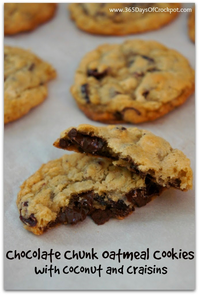 Oatmeal Dark Chocolate Chunk Cookies with Coconut and ...