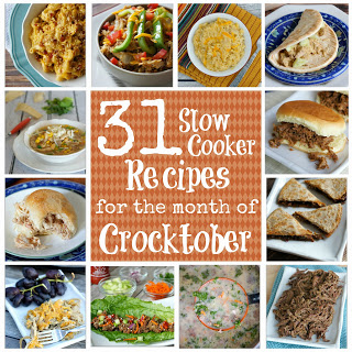 "31 Crockpot Recipes for ""Crocktober."" Yummy and EASY dinner ideas to get you organized."