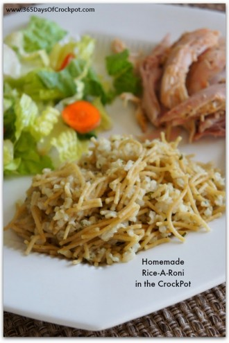 Homemade Slow Cooker Rice-A-Roni
