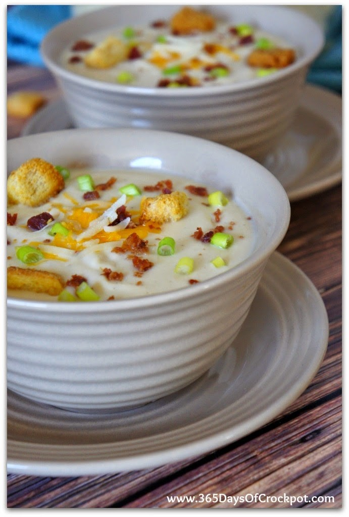 Slow Cooker Wisconsin Cauliflower Soup Zupas Cafe Copy Cat Recipe 365 Days Of Slow Cooking And Pressure Cooking