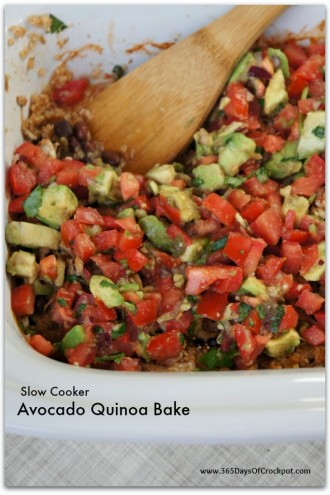 Slow Cooker Avocado Quinoa Casserole (plus a giveaway)