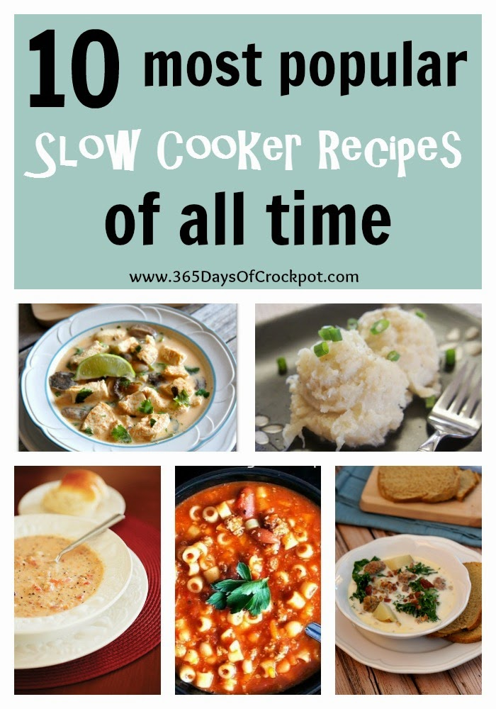 Top 10 Most Popular Slow Cooker Recipes Of All Time 365 Days Of Slow Cooking And Pressure Cooking
