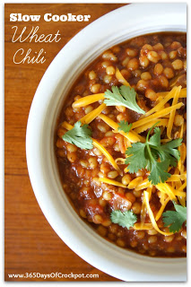 "Recipe for Slow Cooker Wheat Chili (a good ""gone all day"" recipe)"