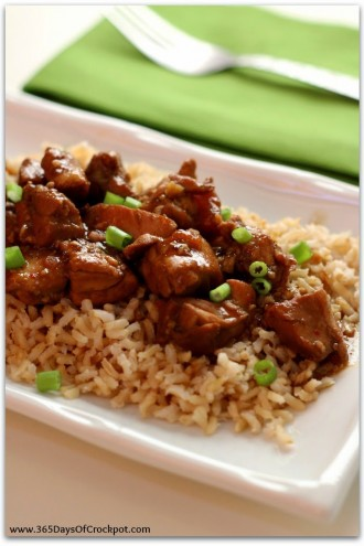 Slow Cooker General Tso's Chicken (light and gluten free)
